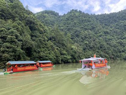 城步巫江山峡旅游航线正式开通