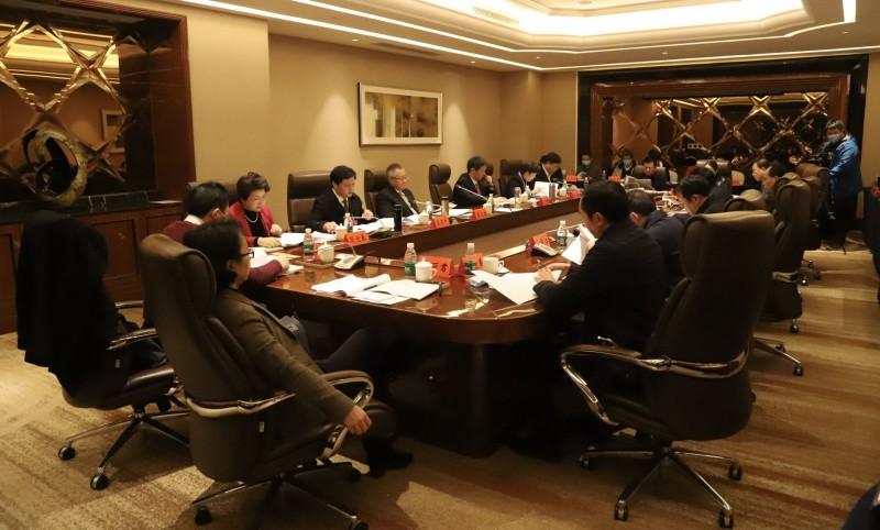 邵阳市新冠肺炎疫情防控工作领导小组会议现场