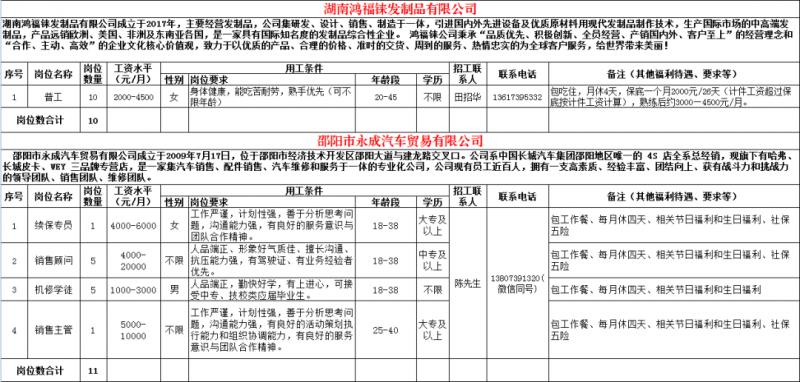 邵阳鸿福铼发制品有限公司-邵阳市永成汽车贸易有限公司